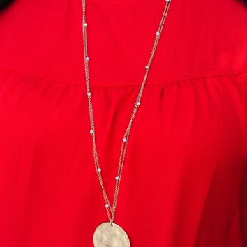 Treasures Untold Necklace: Gold/Ivory