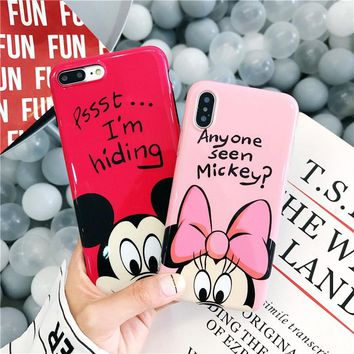 Cartoon Minnie Mickey Mouse Donald Daisy Duck Soft TPU Case For iPhone XS MAX XR 7 8 Plus Cases For iPhone 6s 7 Plus Covers Capa