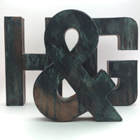 Faux Metal Letters - Rugged Bronze - Metal - Antique - Patina - Aged - Vintage - Industrial - Decorative - Rustic - Old - Beautiful - Bronze