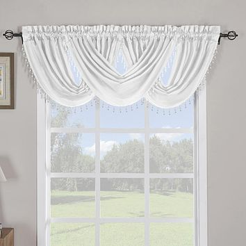"Soho Waterfall Decorative Trim Window Valance 57""wx 37""L (Single)"