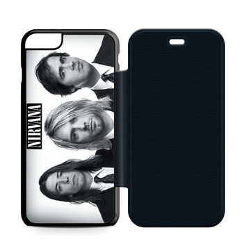 Nirvana Band Leather Wallet Flip Case iPhone 6 Plus | 6S Plus