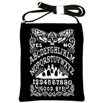 Death Head Moth Ouija Board shoulder sling purse