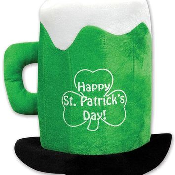 Plush St Patrick's Day Beer Mug Hat Case Pack 6