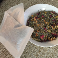 Bath Tea with Chamomile and Rose // Soothing Herbal Bath Tea // All Natural, Botanical Blend // Bath and Beauty