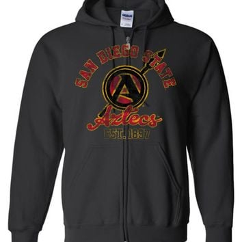Official NCAA San Diego State University Aztecs SDSU Aztec Warrior Basic Zip Hoodie - sdsu1006-b