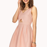 FOREVER 21 Retro Darling A-Line Dress Coral/Yellow