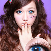 EOS Ice Blue - Big Eye with Natural Effect Contacts | PinkyParadise