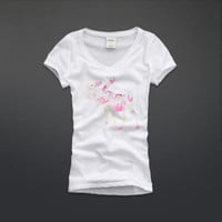 shine floral moose graphic tee