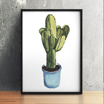 Botanical poster Potted plant print Flower art Watercolor print ACW644