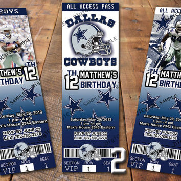 Dallas cowboys party p tickets party city hours party nfl dallas cowboys birthday invitation ticket filmwisefo Gallery