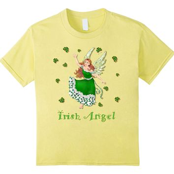 Lucky Irish Shamrock Angel t-shirt