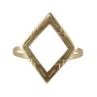 Two Step Diamond Cuff 22k Gold Plated - The 2 Bandits