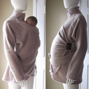 Maternity Coat Babywearing Coat Baby Wearing by PlusSizeClothing