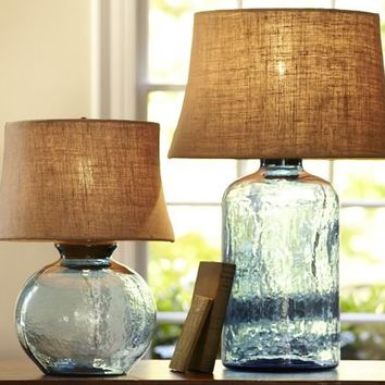 Clift Glass Table Lamp Base - Light Blue