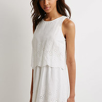 Layered Eyelet Dress