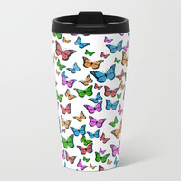 Butterflies Metal Travel Mug by Knm Designs