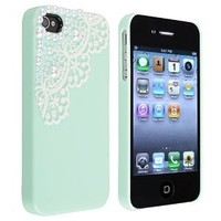 Generic MC0099 Cell Phone Case for iPhone 4 4G 4s - Non-Retail Packaging - Blue