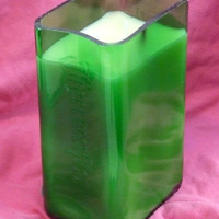 20 Ounce Pure Soy Candle in Reclaimed Jagermeister Liquor Bottle - No Label - Your Choice of Scent
