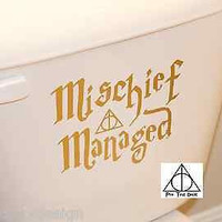 Harry Potter Decal Mischief Managed & Deathly Hallows inspired