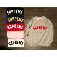 SUPREME Long-Sleeved Round Neck Sweater