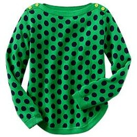 Jacquard polka dot sweater