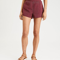 AE Side Tie Stripe Short, Red