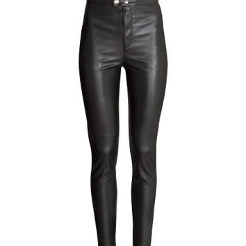 H&M Imitation leather trousers $24.99