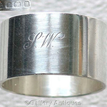 Heavy Art Deco 925 Sterling Solid Silver Napkin / Serviette Ring by Adie Bros, Hallmarked for Birmingham, 1933 weighs 53.4g (ref: 3161)