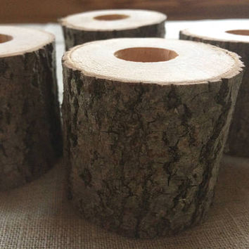 50 natural wood candle holders, log tea light holder, woodland wedding, rustic wedding decor, home decor, country wedding, christmas decor