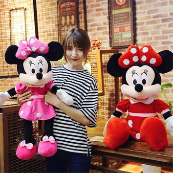 40cm New Lovely Mickey Mouse and Minnie Mouse Plush Toys Stuffed Cartoon Figure Dolls Kids Christmas Birthday gift