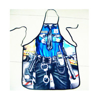 Policeman Design Cooking Apron - Amazing Gift