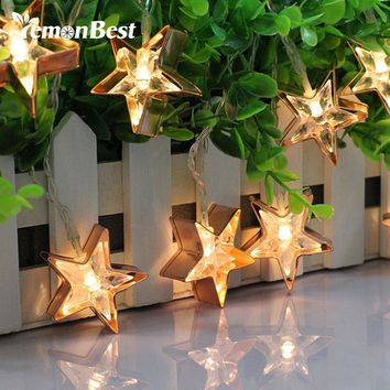 5.5ft/1.7m Star and Flamingo Style 10-LED String Light Warm White Lamp Decoration