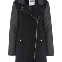Margo wool biker coat