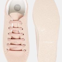 River Island Perforated Trainer at asos.com
