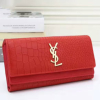 YSL Buckle Women Leather Purse Wallet Satchel Tote Handbag