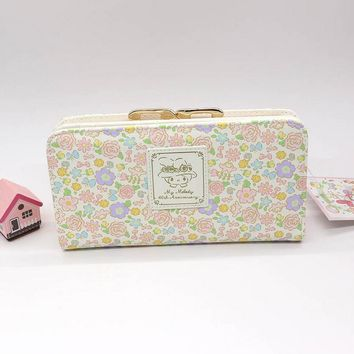 Genuine my melody wallet female fashion long womens wallets and purses High quality PU male clutch