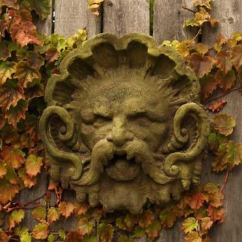 Neptune Poseidon Mask of Fridged Cold Garden Hanging 12H - 7360