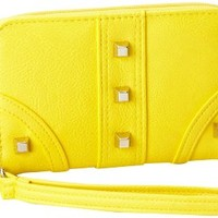 Jessica Simpson Melrose Cell Phone JS7497-TGYEL Wristlet,Yellow,One Size
