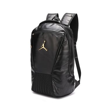 Jordan stylish men's solid color simple large capacity backpack