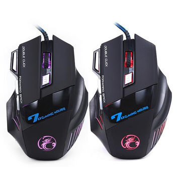 Wired Gaming Mouse 7 Button 5500 DPI LED