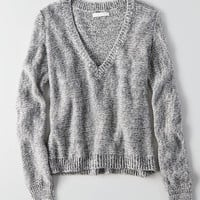 Don't Ask Why V-Neck Sweater, Gray