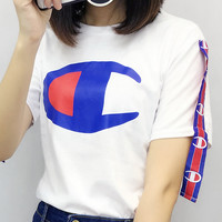 English letter printing short T-shirt