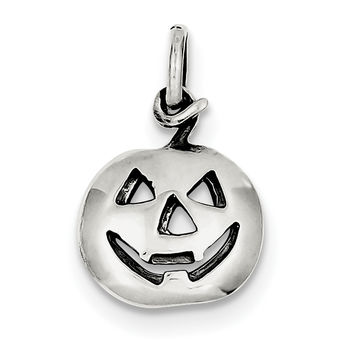 Sterling Silver Pumpkin Charm QC7577