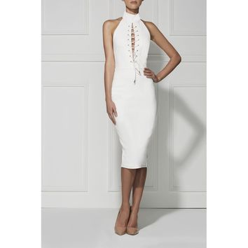Sexy Lexy Lace Up Bodycon Dress