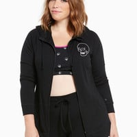 Torrid Active - Embroidered Skull Zip Front Hoodie