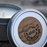 Scented Soy Candles for Coastal Living — Very Vanilla Soy Candle / 4 oz. Handmade Scented Spa Tin