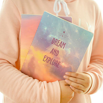 Vintage Romatic Starry sky series Kraft paper notebook journal Diary Notepad Memo pads School Office Supplies Kawaii Stationery