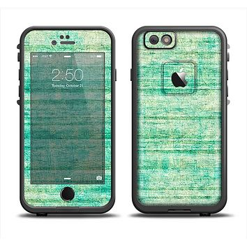 The Grungy Horizontal Green Lines Apple iPhone 6 LifeProof Fre Case Skin Set