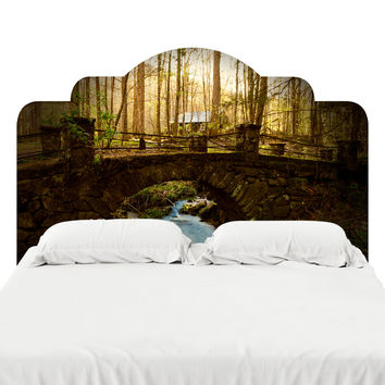Abandoned In Smokey Mountains Headboard Decal