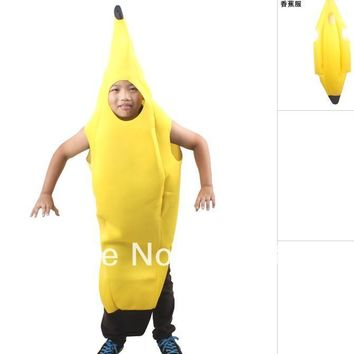 Free shipping ,children funny banana costume suit for kid ,halloween carnival party decoration clothes